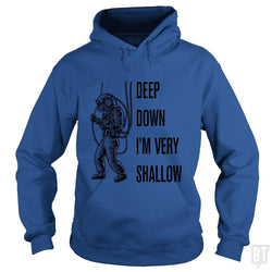SunFrog-Busted n23 Hoodie / Royal Blue / S Deep Down I'm Very Shallow