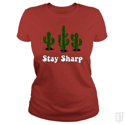 SunFrog-Busted n23 Classic Ladies Tee / Red / S Stay Sharp