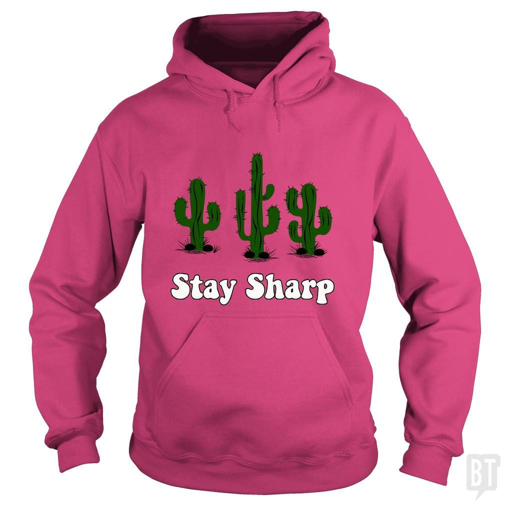 SunFrog-Busted n23 Hoodie / Heliconia / S Stay Sharp
