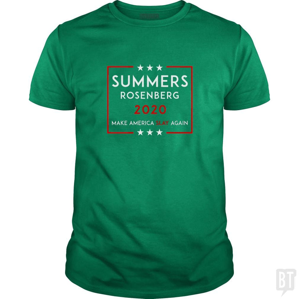 SunFrog-Busted n23 Classic Guys / Unisex Tee / Irish Green / S Summers Rosenberg 2020