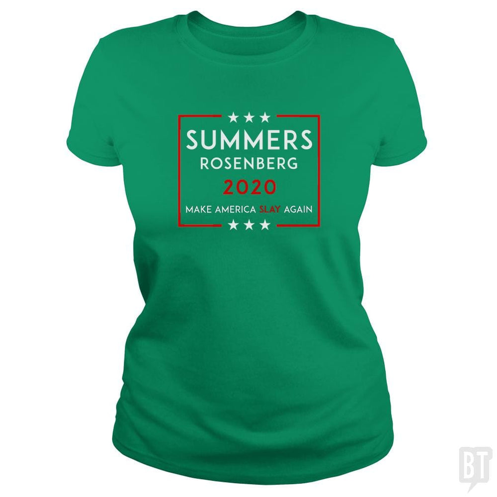 SunFrog-Busted n23 Classic Ladies Tee / Irish Green / S Summers Rosenberg 2020