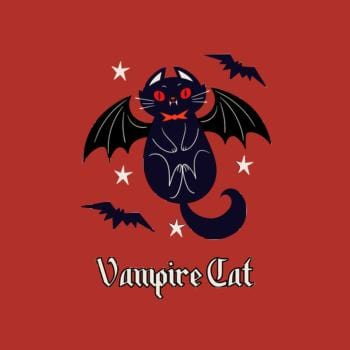 SunFrog-Busted n23 Vampire Cat