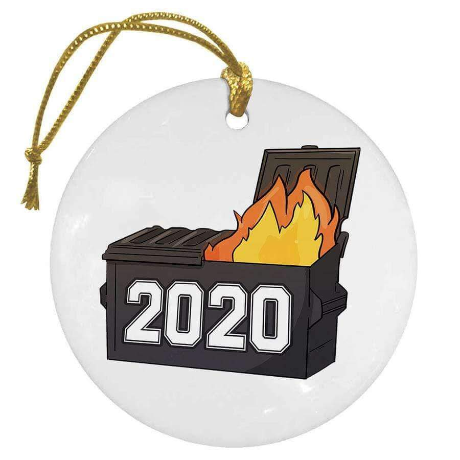 SunFrog-Busted Ornament 2020 Dumpster Christmas Ornament