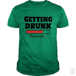 SunFrog-Busted Otaku_Sensei Classic Guys / Unisex Tee / Irish Green / S Getting drunk..Pls wait