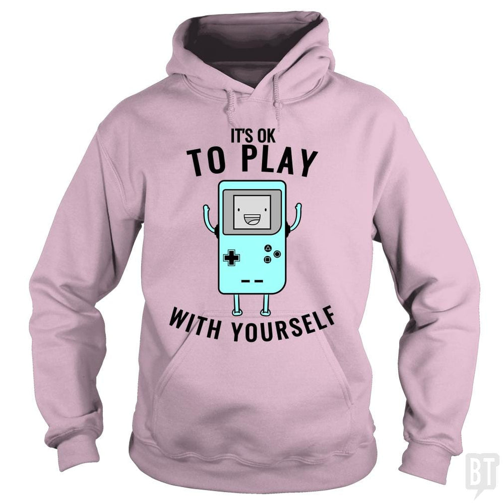 SunFrog-Busted Otaku_Sensei Hoodie / Light Pink / S Play with yourself