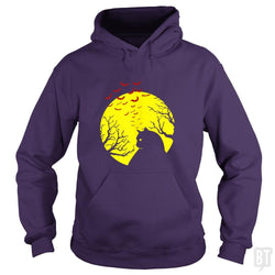 SunFrog-Busted PAMELA Hoodie / Purple / S Cat Bats Hallooween Night Haunted Full Moon Supers