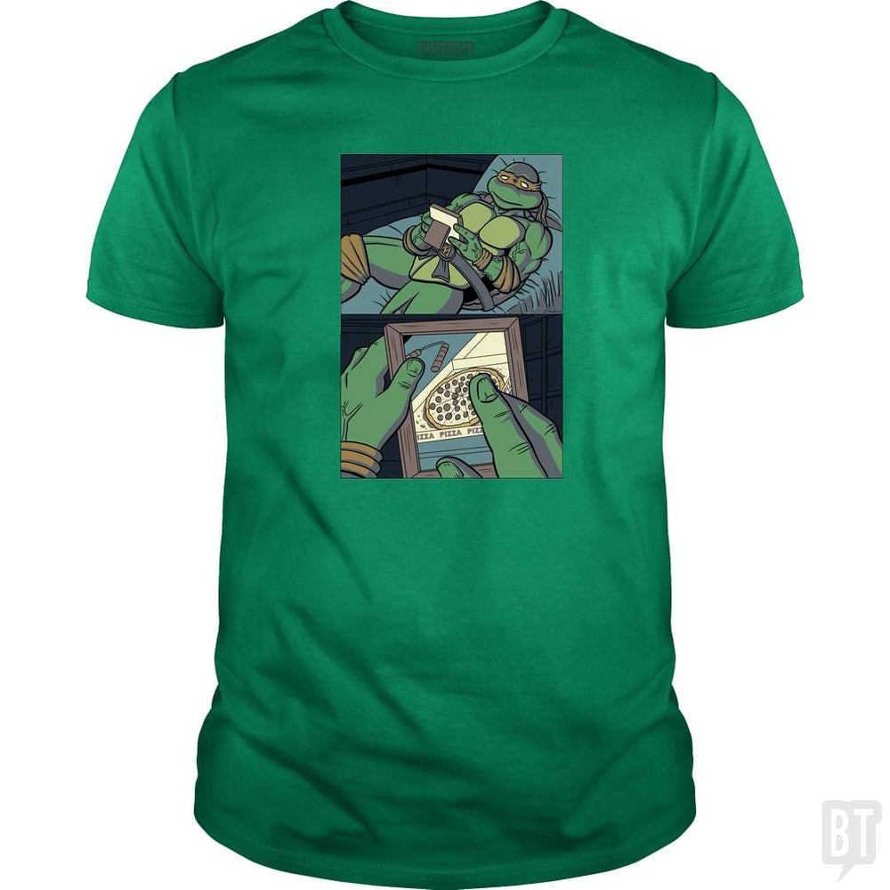 SunFrog-Busted PennyTees Classic Guys / Unisex Tee / Irish Green / S Longing For Pizza