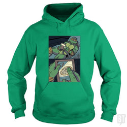 SunFrog-Busted PennyTees Hoodie / Irish Green / S Longing For Pizza