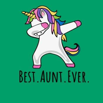 SunFrog-Busted Platinumshop Best Aunt Ever Dabbing Unicorn T-Shirt For Her