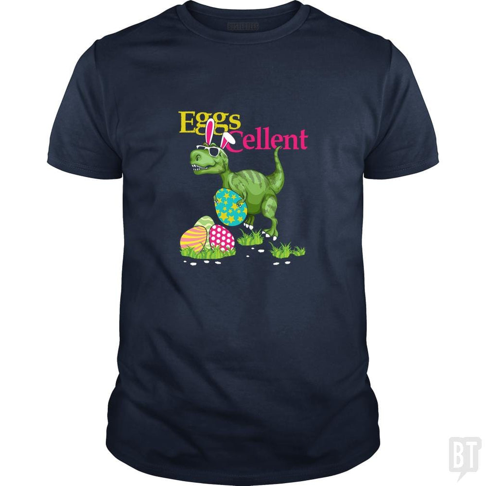 SunFrog-Busted Platinumshop Classic Guys / Unisex Tee / Navy Blue / S Easter Bunny Dinosaur T-shirt T-rex Boys Kids Eggs