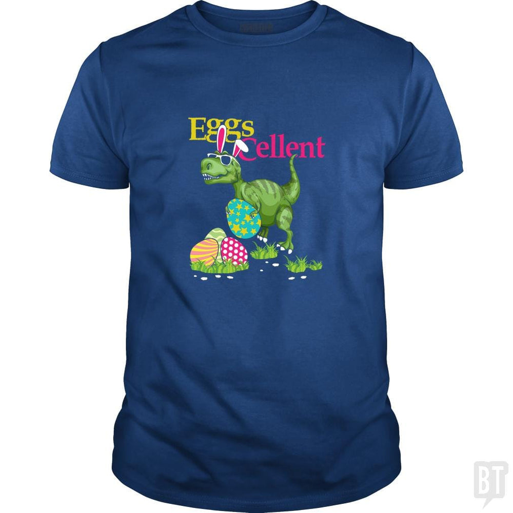 SunFrog-Busted Platinumshop Classic Guys / Unisex Tee / Royal Blue / S Easter Bunny Dinosaur T-shirt T-rex Boys Kids Eggs
