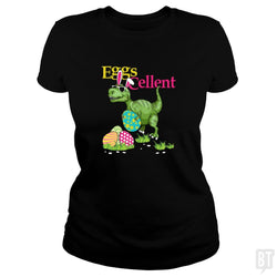SunFrog-Busted Platinumshop Classic Ladies Tee / Black / S Easter Bunny Dinosaur T-shirt T-rex Boys Kids Eggs
