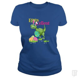 SunFrog-Busted Platinumshop Classic Ladies Tee / Royal Blue / S Easter Bunny Dinosaur T-shirt T-rex Boys Kids Eggs