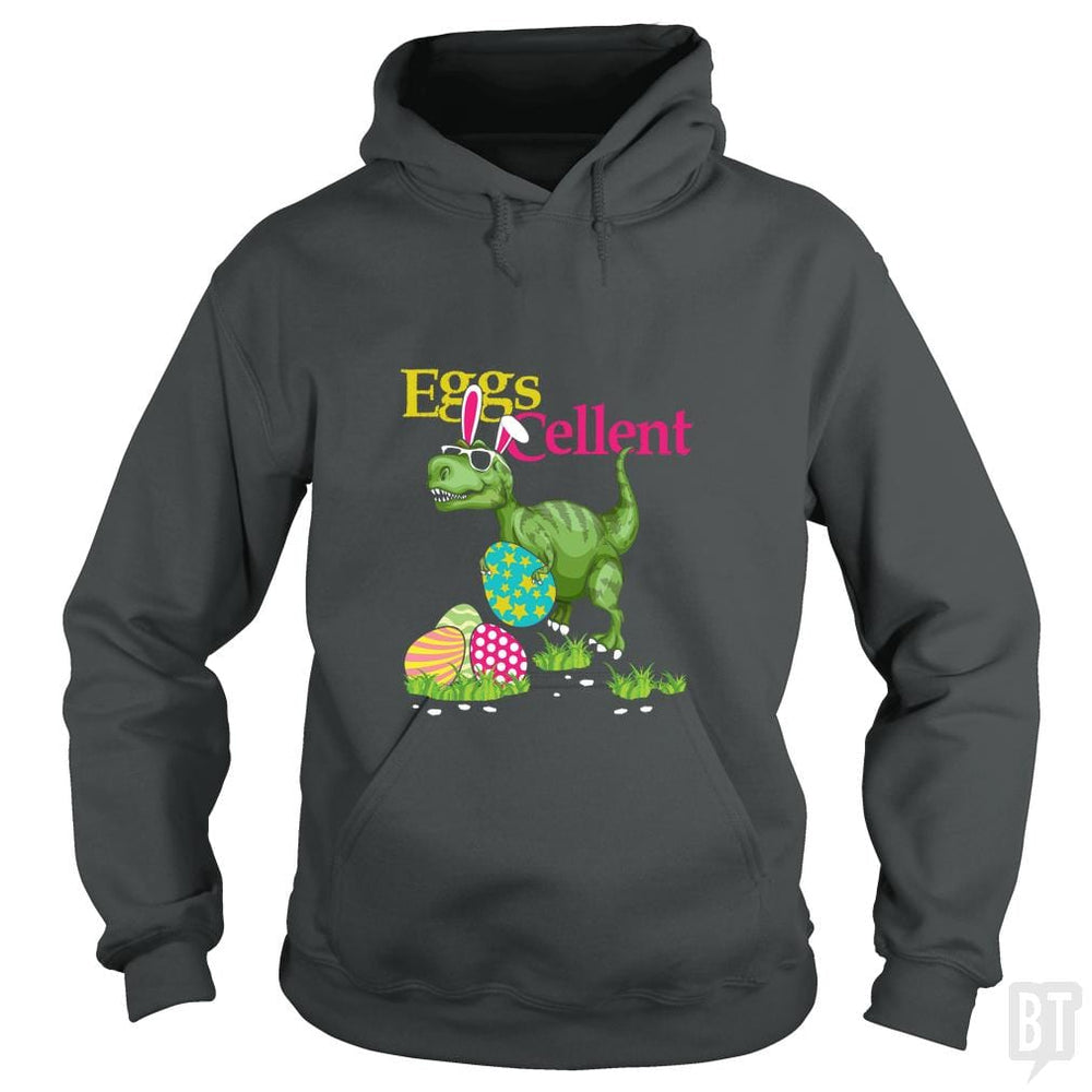 SunFrog-Busted Platinumshop Hoodie / Dark Heather / S Easter Bunny Dinosaur T-shirt T-rex Boys Kids Eggs
