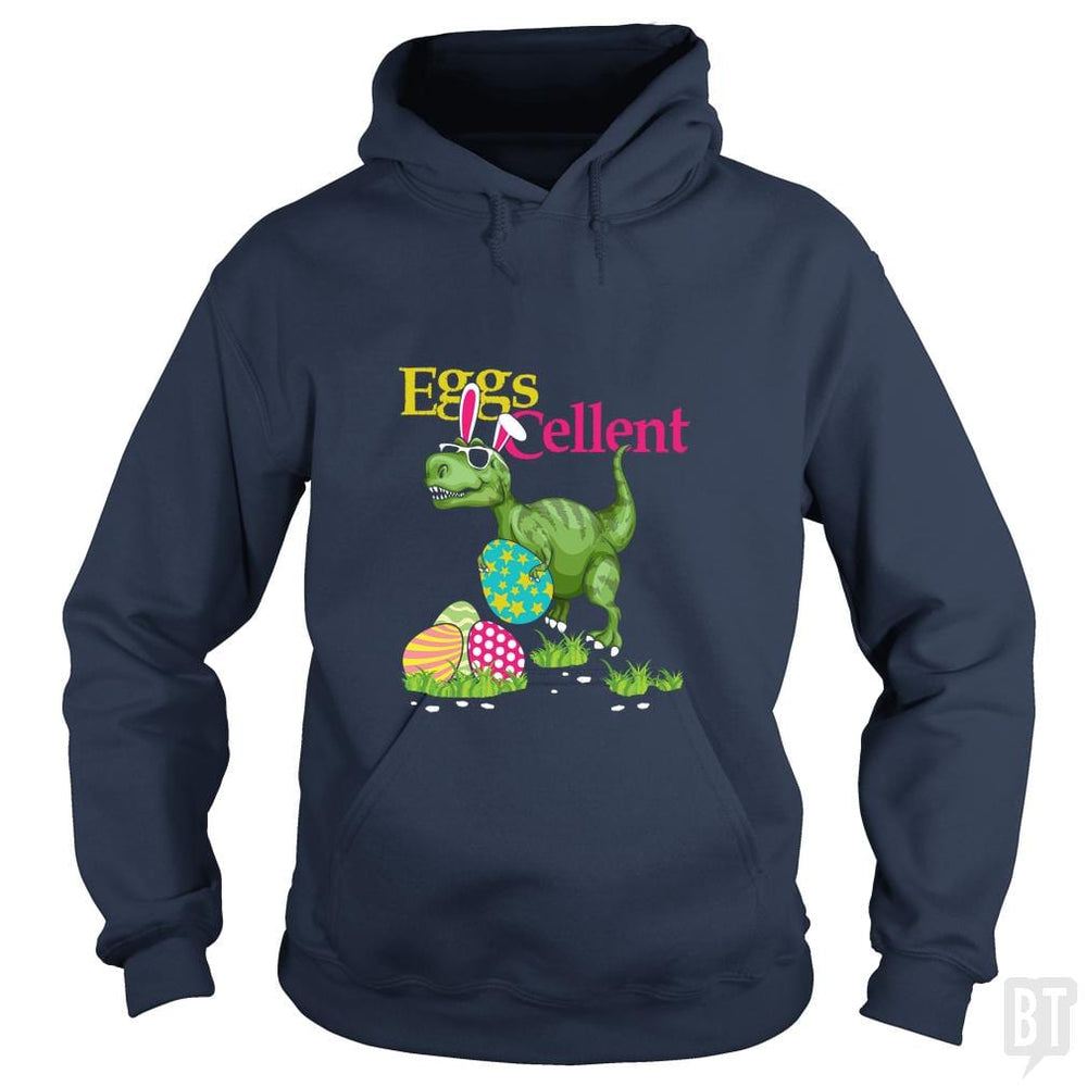 SunFrog-Busted Platinumshop Hoodie / Navy Blue / S Easter Bunny Dinosaur T-shirt T-rex Boys Kids Eggs