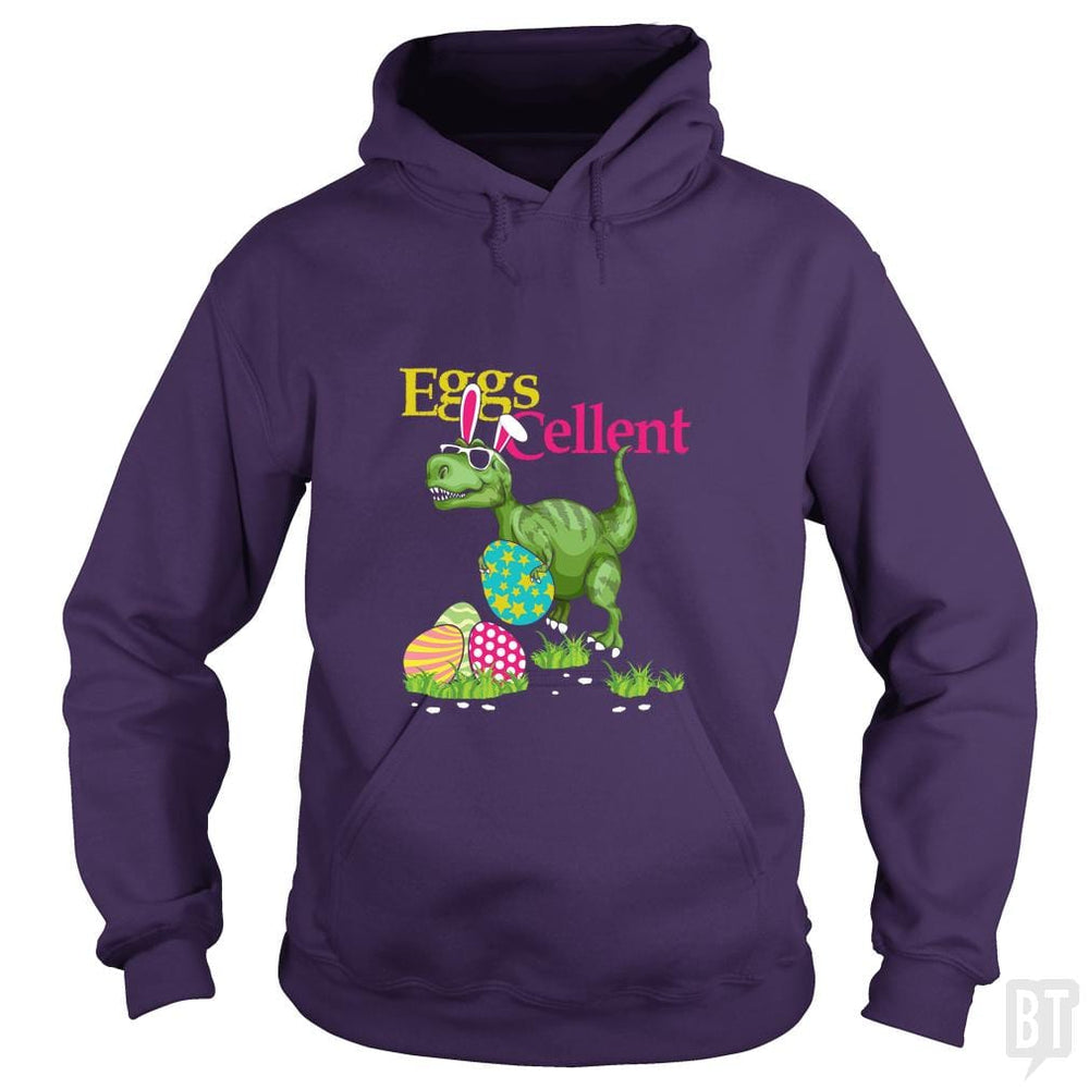 SunFrog-Busted Platinumshop Hoodie / Purple / S Easter Bunny Dinosaur T-shirt T-rex Boys Kids Eggs