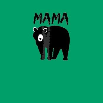 SunFrog-Busted Platinumshop Womens Mama Black Bear Mother's Day T Shirt