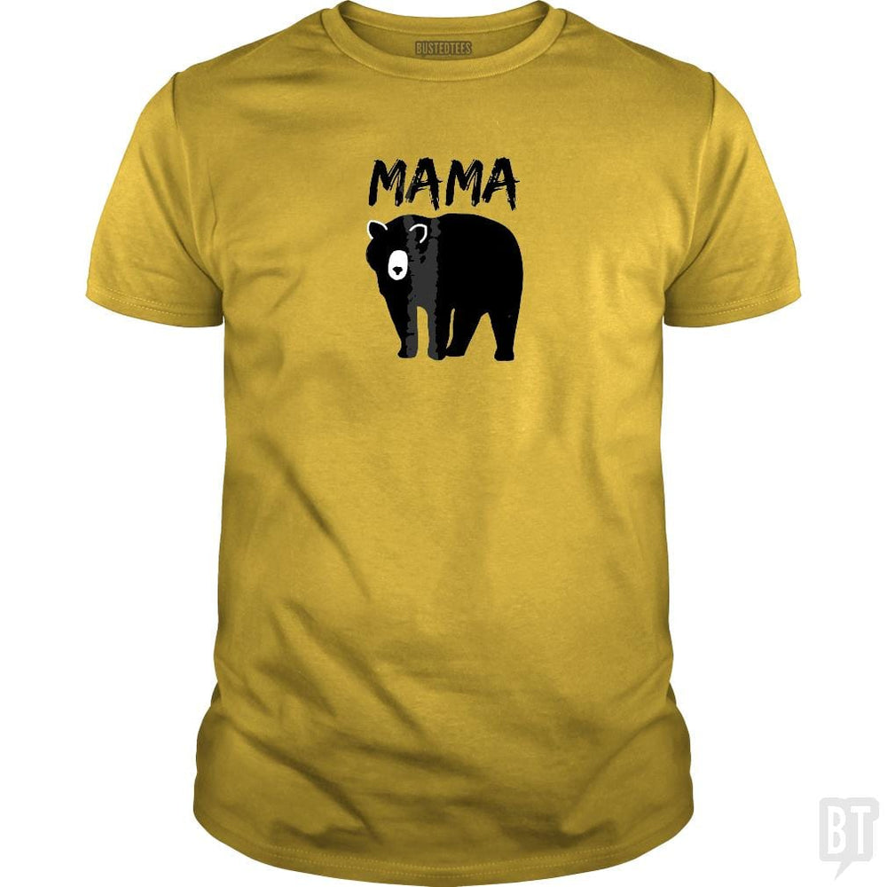 SunFrog-Busted Platinumshop Classic Guys / Unisex Tee / Daisy / S Womens Mama Black Bear Mother's Day T Shirt