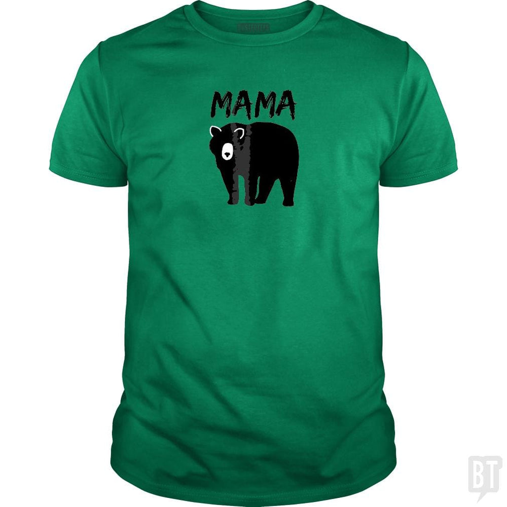 SunFrog-Busted Platinumshop Classic Guys / Unisex Tee / Irish Green / S Womens Mama Black Bear Mother's Day T Shirt