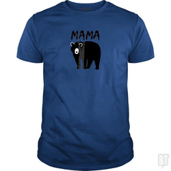 SunFrog-Busted Platinumshop Classic Guys / Unisex Tee / Royal Blue / S Womens Mama Black Bear Mother's Day T Shirt
