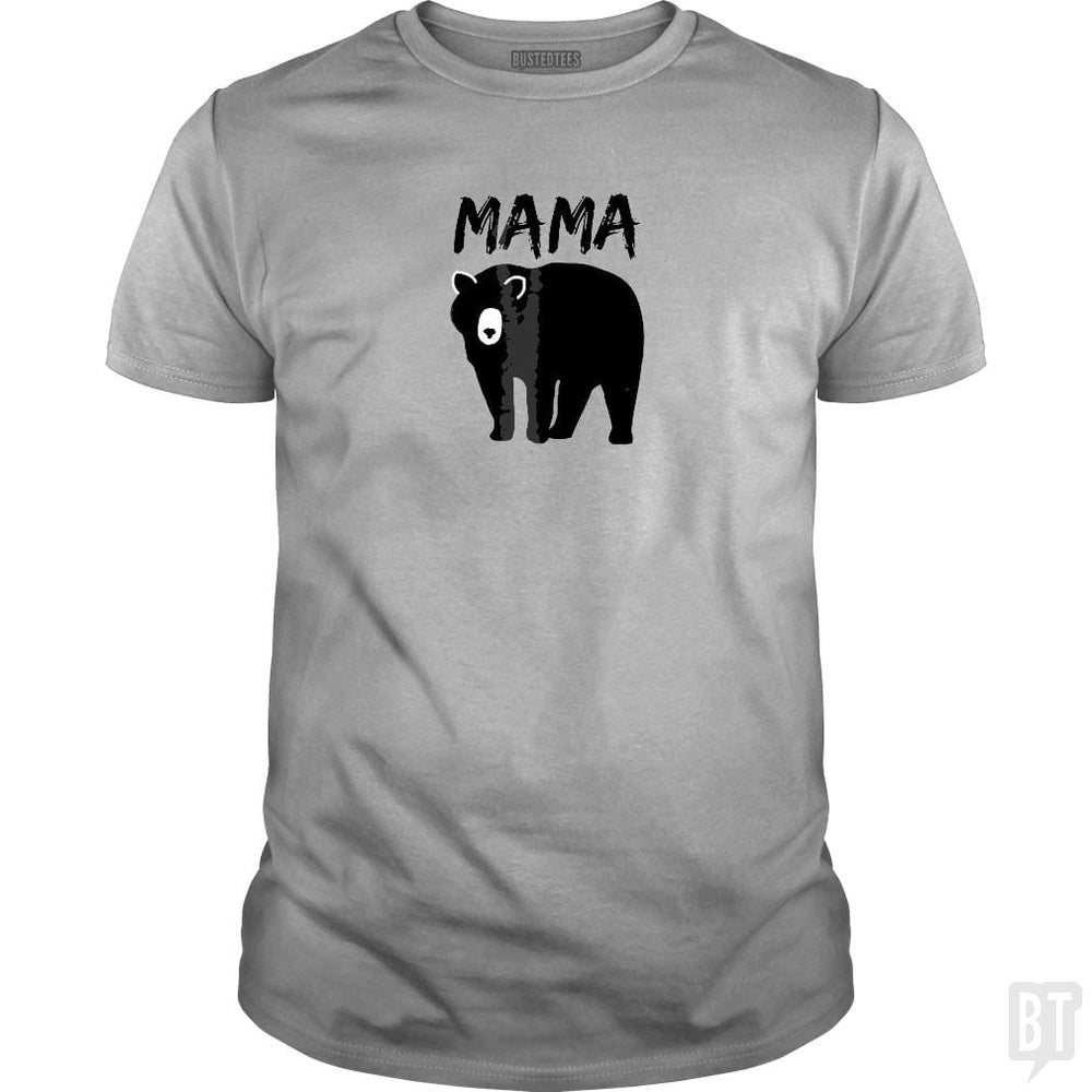 SunFrog-Busted Platinumshop Classic Guys / Unisex Tee / Sport Grey / S Womens Mama Black Bear Mother's Day T Shirt