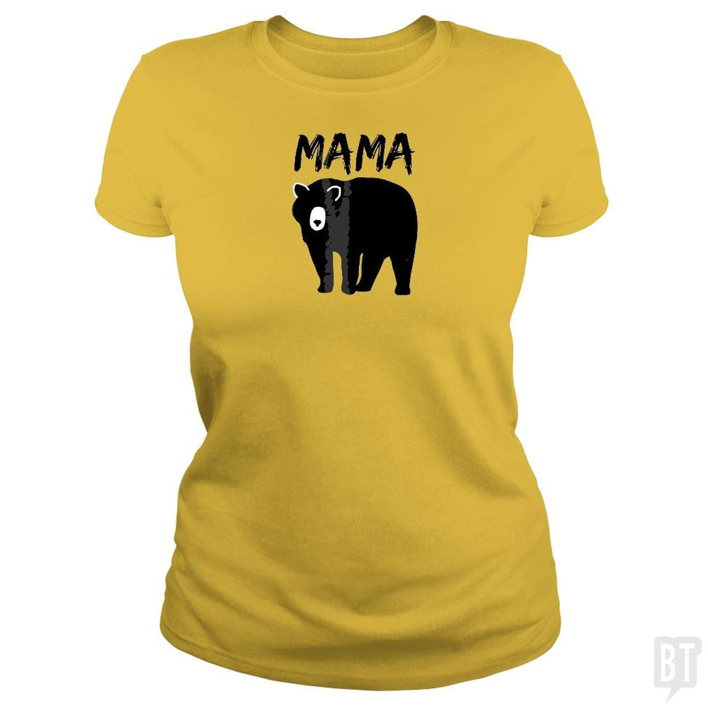 SunFrog-Busted Platinumshop Classic Ladies Tee / Daisy / S Womens Mama Black Bear Mother's Day T Shirt