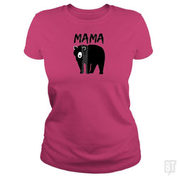 SunFrog-Busted Platinumshop Classic Ladies Tee / Heliconia / S Womens Mama Black Bear Mother's Day T Shirt