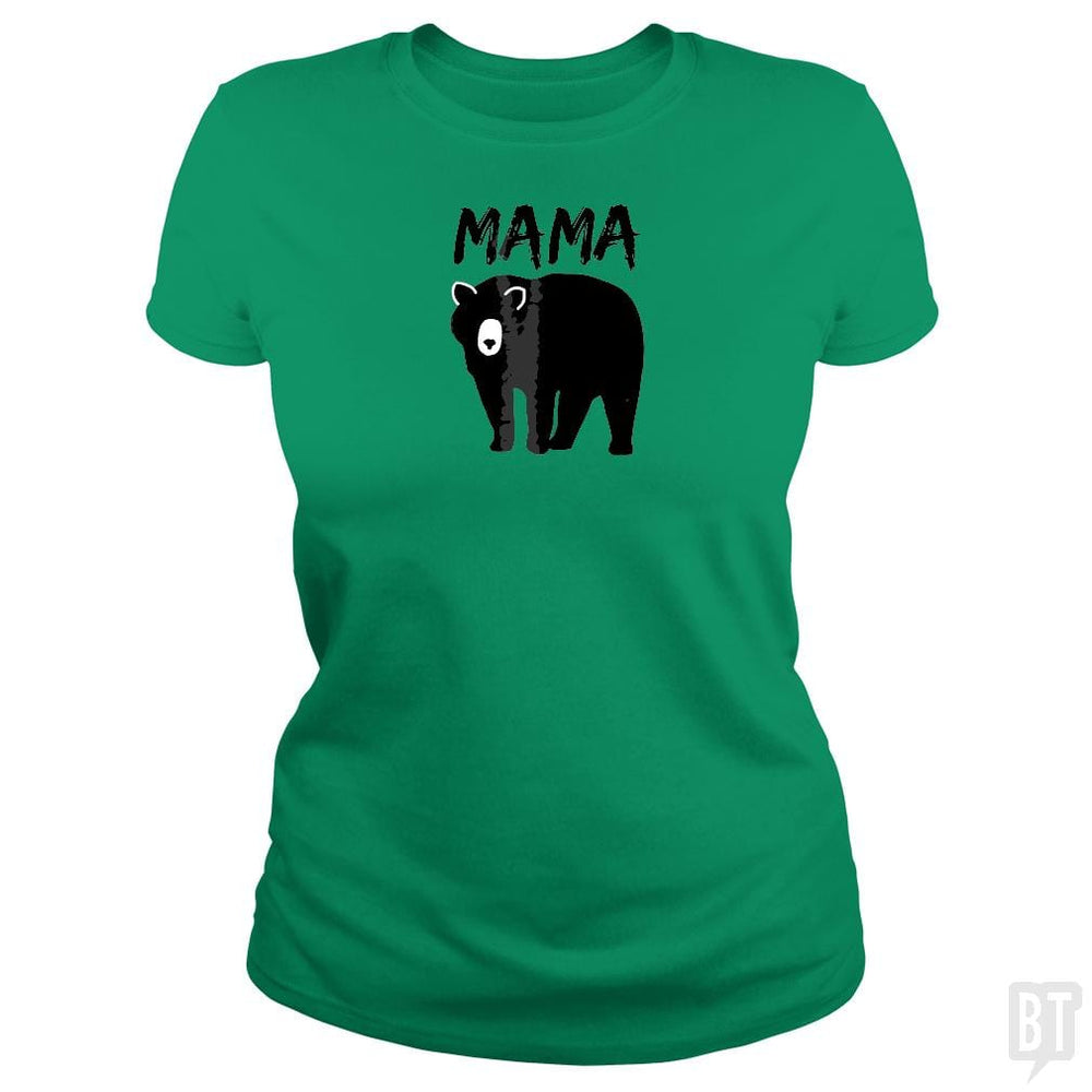 SunFrog-Busted Platinumshop Classic Ladies Tee / Irish Green / S Womens Mama Black Bear Mother's Day T Shirt