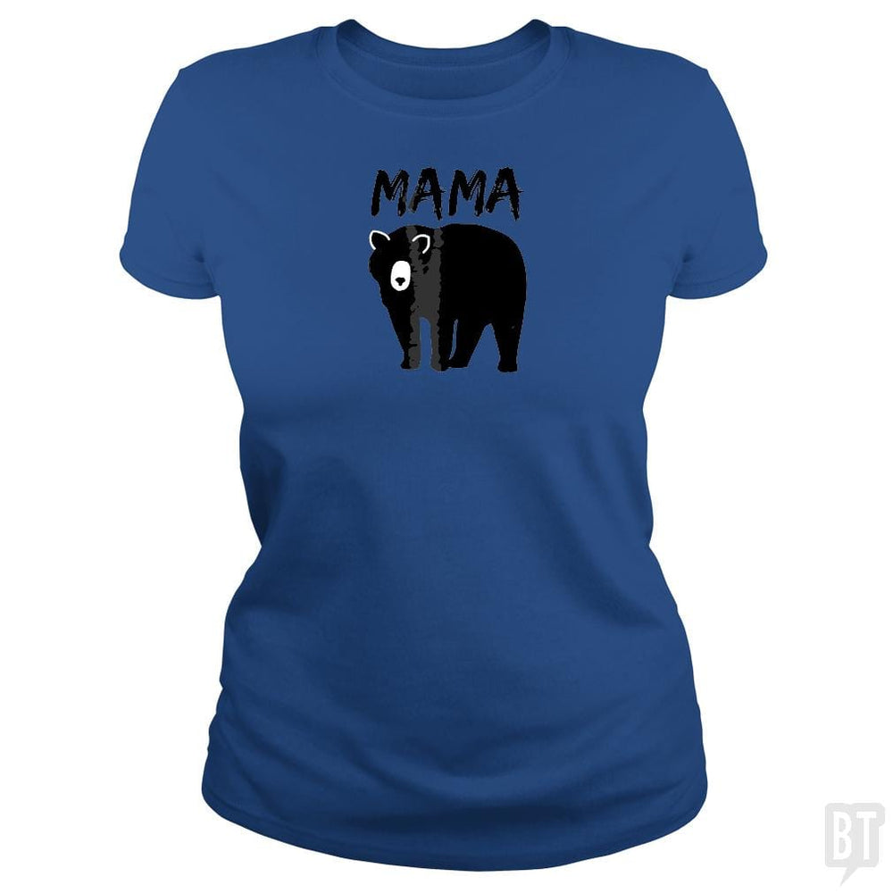 SunFrog-Busted Platinumshop Classic Ladies Tee / Royal Blue / S Womens Mama Black Bear Mother's Day T Shirt