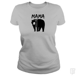 SunFrog-Busted Platinumshop Classic Ladies Tee / Sport Grey / S Womens Mama Black Bear Mother's Day T Shirt