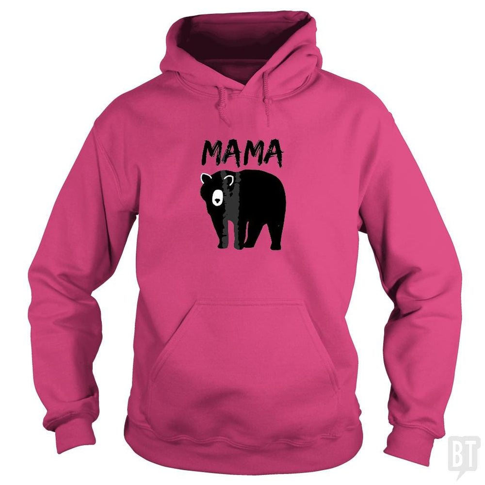 SunFrog-Busted Platinumshop Hoodie / Heliconia / S Womens Mama Black Bear Mother's Day T Shirt