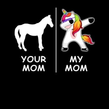 SunFrog-Busted Platinumshop Your Mom My Mom Funny Unicorn Dabbing Shirt Gifts