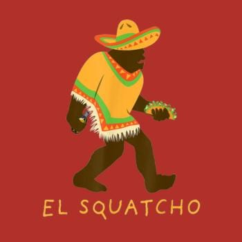 SunFrog-Busted Shakonda Funny El Squatcho Bigfoot With Taco, Beer, Pacho,