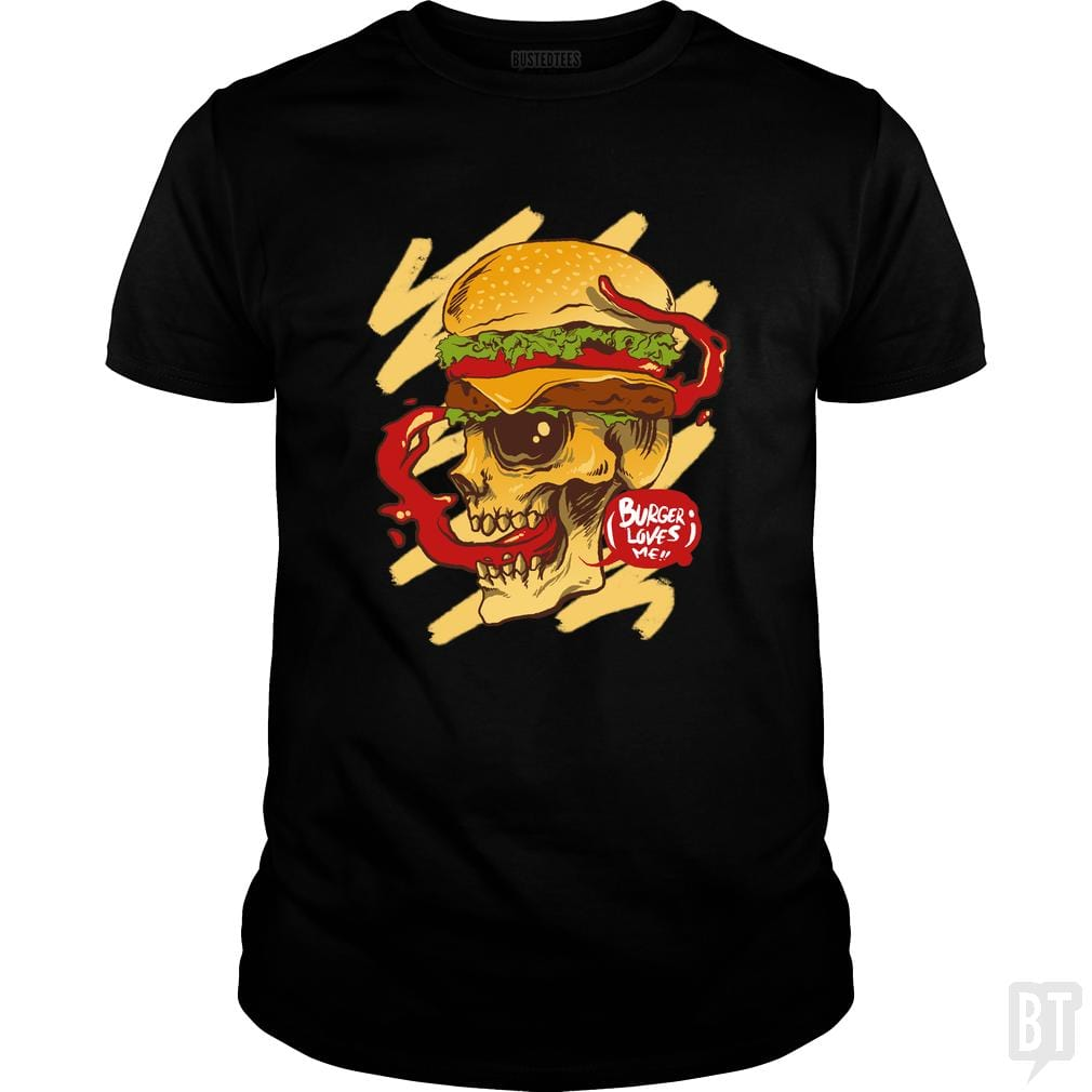 SunFrog-Busted spoilerinc Classic Guys / Unisex Tee / Black / S burger loves me