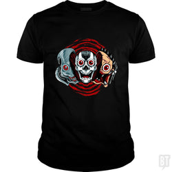 SunFrog-Busted spoilerinc Classic Guys / Unisex Tee / Black / S double slasher