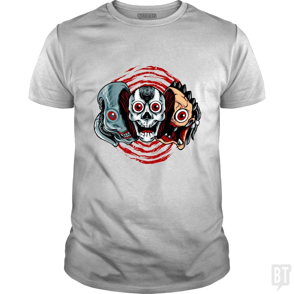 SunFrog-Busted spoilerinc Classic Guys / Unisex Tee / White / S double slasher