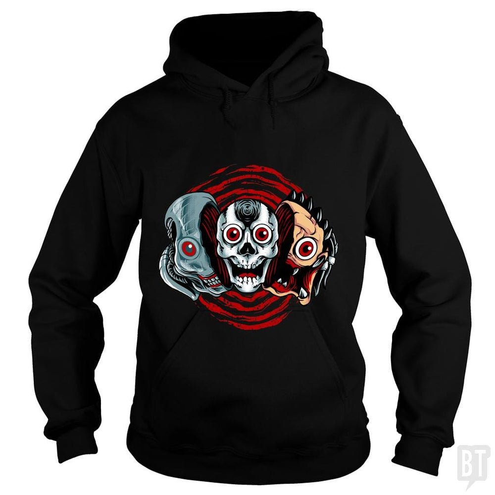 SunFrog-Busted spoilerinc Hoodie / Black / S double slasher