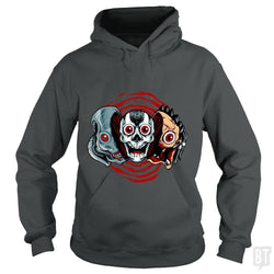SunFrog-Busted spoilerinc Hoodie / Dark Heather / S double slasher