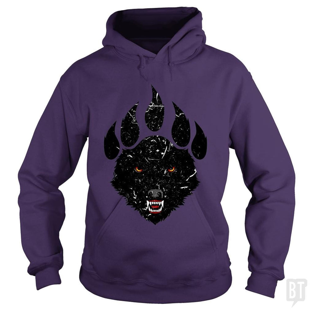 SunFrog-Busted spoilerinc Hoodie / Purple / S wolf claw