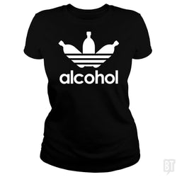 SunFrog-Busted Tazeek Classic Ladies Tee / Black / S Alcohol