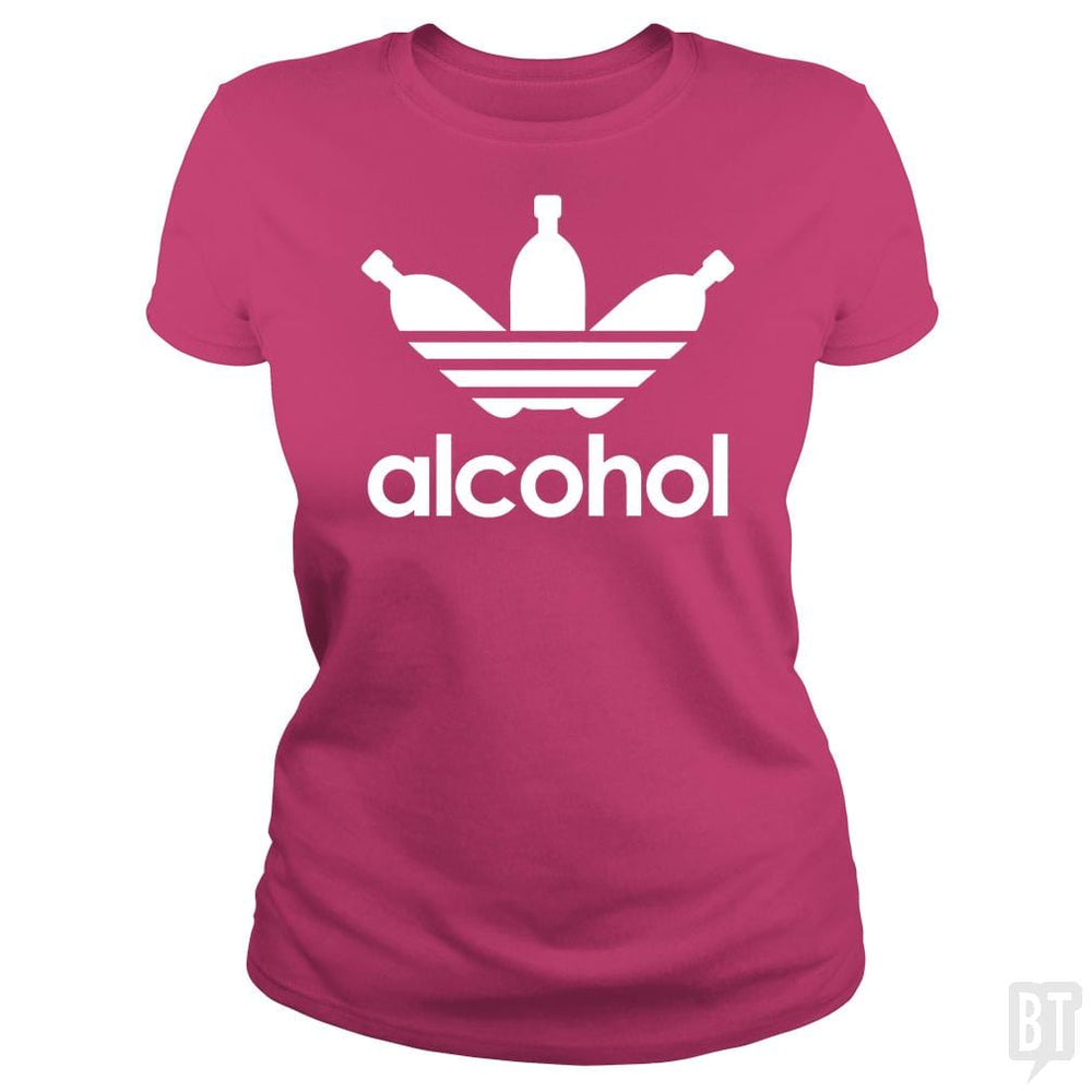 SunFrog-Busted Tazeek Classic Ladies Tee / Heliconia / S Alcohol