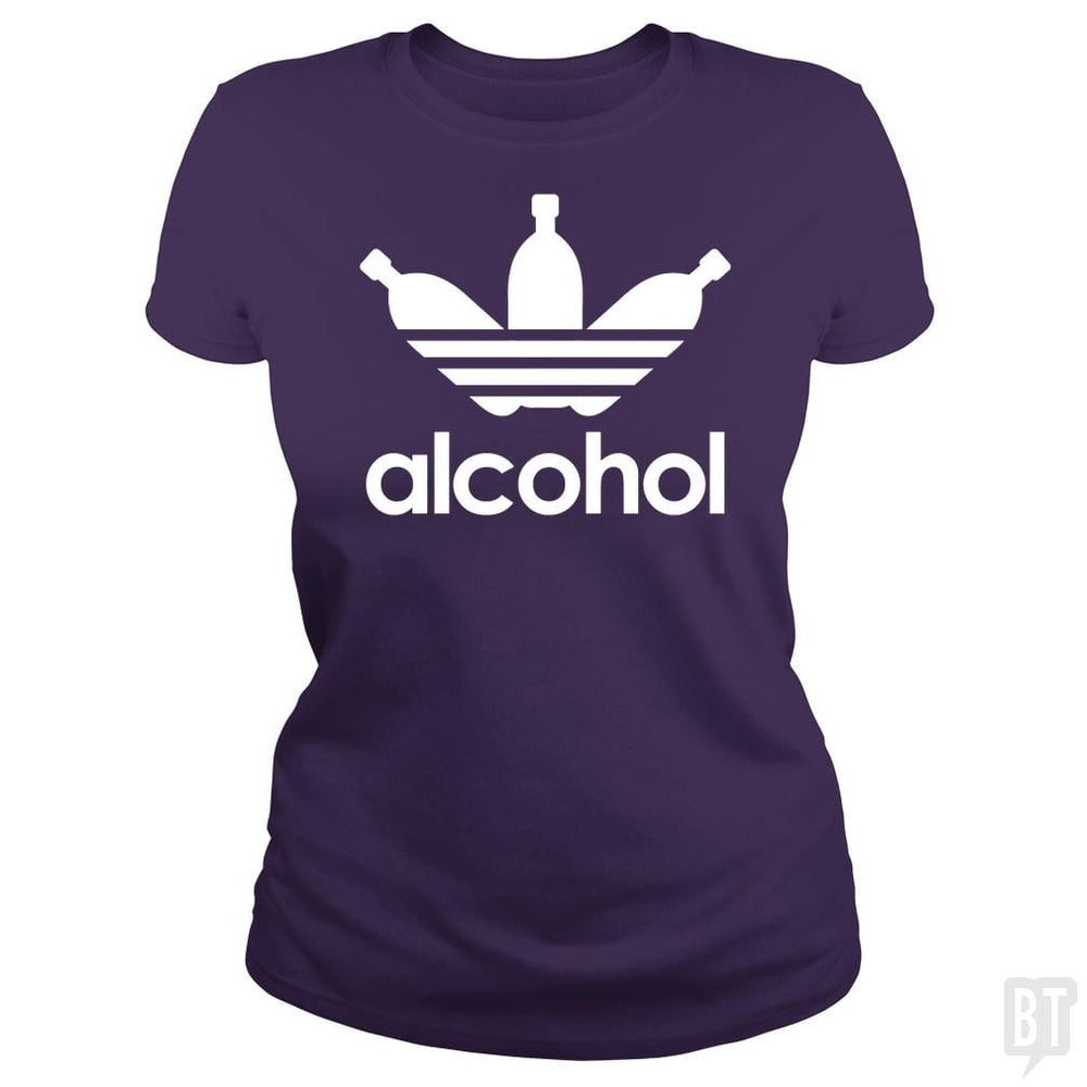 SunFrog-Busted Tazeek Classic Ladies Tee / Purple / S Alcohol