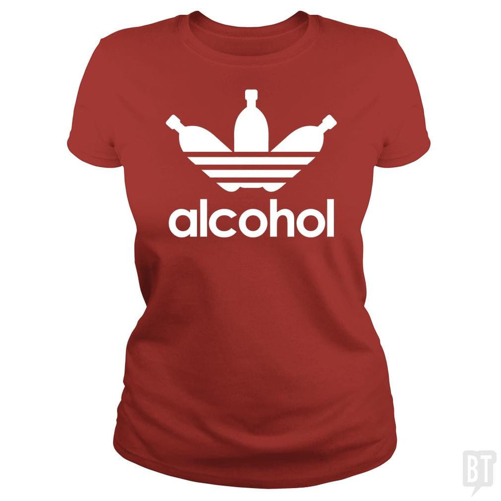 SunFrog-Busted Tazeek Classic Ladies Tee / Red / S Alcohol