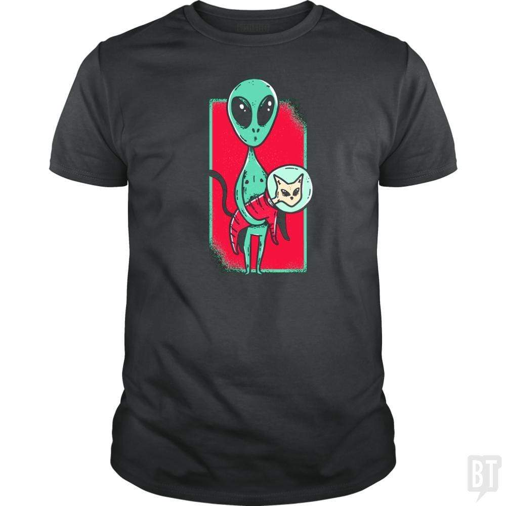 SunFrog-Busted TEE ART LAB Classic Guys / Unisex Tee / Dark Heather / S Alien With Cat
