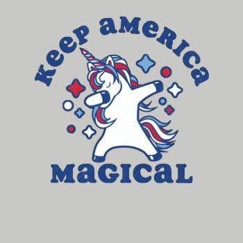 SunFrog-Busted Tingsy Keep America Magical Dabbing Unicorn