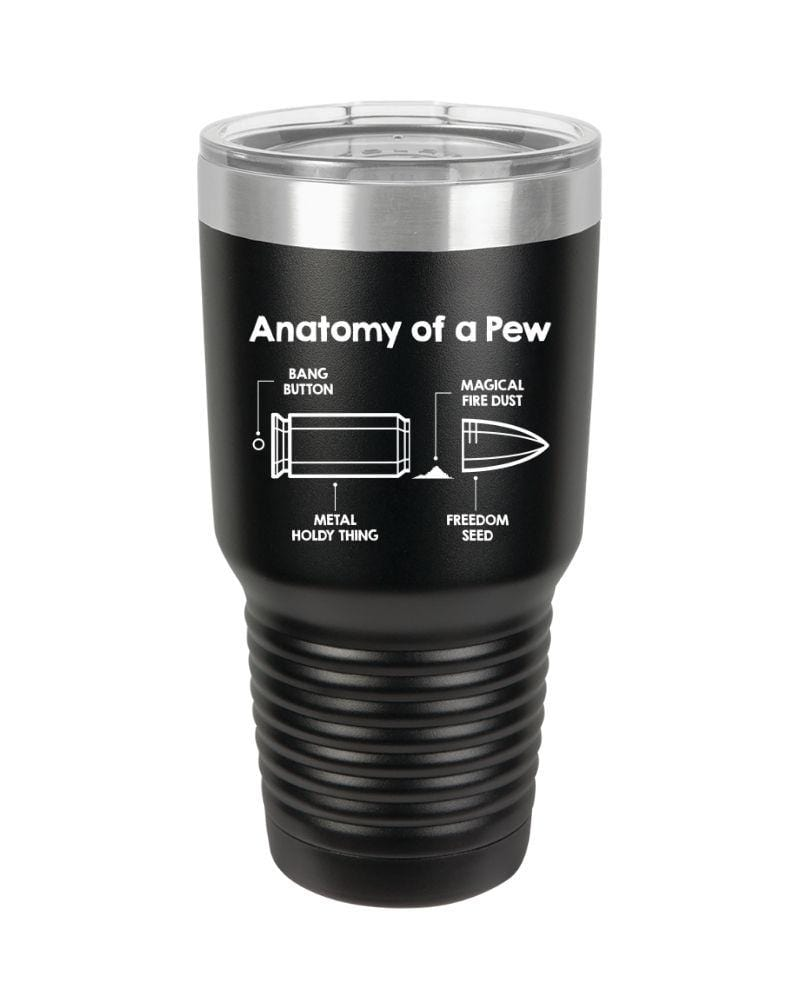 SunFrog-Busted Tumblers 30 oz / Black Anatomy Of A Bullet Tumbler
