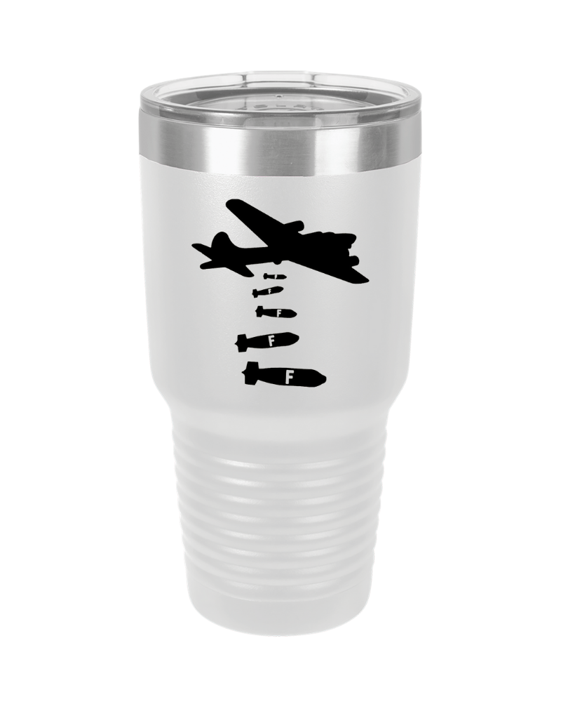 SunFrog-Busted Tumblers 30 oz / White Dropping F Bombs Tumbler