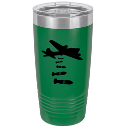 SunFrog-Busted Tumblers 20 oz / Green Dropping F Bombs Tumbler