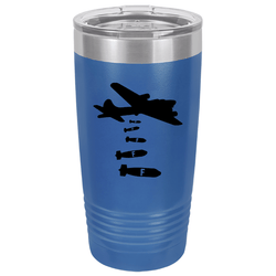 SunFrog-Busted Tumblers 20 oz / Royal Blue Dropping F Bombs Tumbler