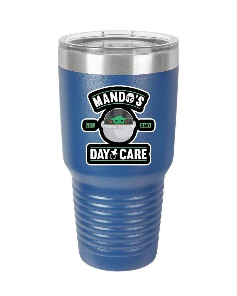 SunFrog-Busted Tumblers 30oz / Royal Blue Mandos Day Care Tumbler